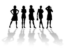 Businesswomen silhouettes Royalty Free Stock Images