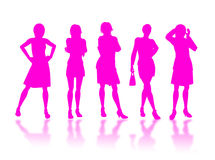 Businesswomen silhouettes Stock Photo