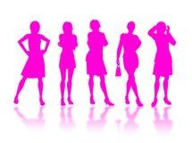 Businesswomen silhouettes Stock Photo