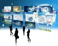 Businesswomen silhouettes Stock Photos