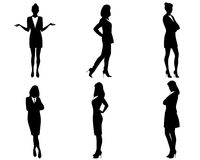Businesswomen silhouettes Royalty Free Stock Photography