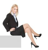 Businesswomen sitting on copyspace Stock Photo
