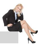 Businesswomen sitting on copyspace Stock Photography