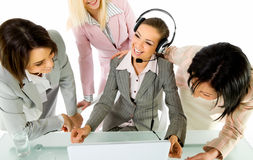 Businesswomen smiling Stock Photos