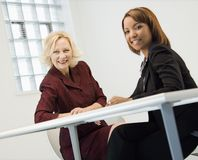 Businesswomen smiling Stock Image