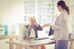 Businesswomen speaking Royalty Free Stock Photography