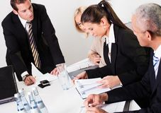Businesswomen taking notes at the presentation Stock Photos