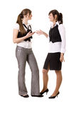 Businesswomen talking royalty free stock photos