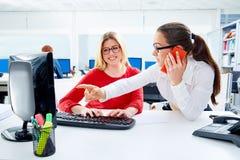 Businesswomen team working at offce desk Stock Photos