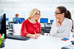 Businesswomen team working at offce desk Stock Photography