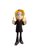 Businesswomen with thumbs up pose. 3d illustration of businesswomen with thumbs up pose Stock Images