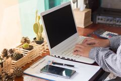 Businesswomen using computer working stock images