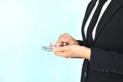 Businesswomen using smartphone Royalty Free Stock Photo