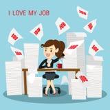 Businesswomen very happy do work. Royalty Free Stock Photos