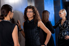Businesswomen waiting for elevator Royalty Free Stock Image