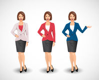 Businesswomen - woman as manager Royalty Free Stock Images