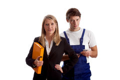 Businesswomen and worker Royalty Free Stock Photo