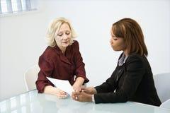 Businesswomen working stock photo