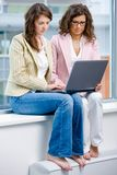 Businesswomen working on computer Stock Image