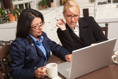 Businesswomen Working on the Laptop Stock Images