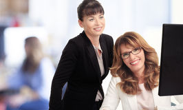 Businesswomen working in office Royalty Free Stock Image