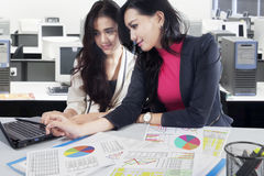 Businesswomen working in the office Stock Images