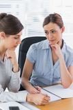 Businesswomen working together Stock Photos
