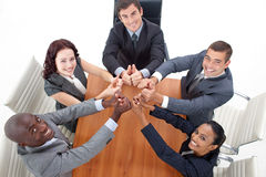 Businesteam with thumbs up Royalty Free Stock Photo