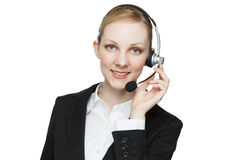 Busineswoman with headset Stock Image