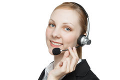 Busineswoman with headset Royalty Free Stock Image