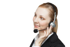 Busineswoman with headset Royalty Free Stock Photography