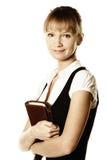 busineswoman holdinganteckningsbok Royaltyfri Bild
