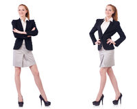 The busineswoman isolated on the white background Royalty Free Stock Photo