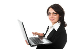 Busineswoman with notebook royalty free stock photo