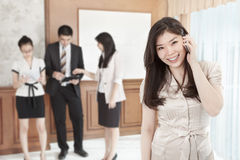 Busineswoman on the phone Royalty Free Stock Image