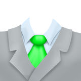 businness衣服的例证与绿色领带的 免版税库存照片