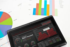 Businness Dashboard on Tablet Royalty Free Stock Photo