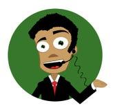 Businnessman engraçado ilustração do vetor
