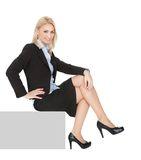 Businnesswomen sitting on copyspace Royalty Free Stock Image