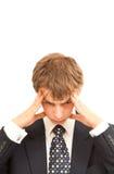 businss имеют детенышей тревоги человека Стоковые Фото