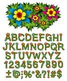 buskeblommabokstäver Arkivbild