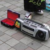 Busker στην οδό του Τόκιο στοκ εικόνες με δικαίωμα ελεύθερης χρήσης