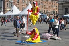 Busker στο Τορίνο στοκ φωτογραφίες με δικαίωμα ελεύθερης χρήσης