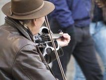 Busker скрипки Стоковая Фотография