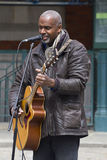 Busker at Covent Garden, London. Royalty Free Stock Photo