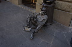 Busker in Florence royalty free stock photography