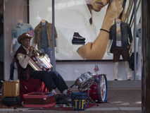 Busker in Little Havana, Miami Florida. Little Havana is a neighborhood of Miami, Florida, United States. Home to many Cuban immigrant residents, as well as many Stock Photos