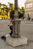Busker in Madrid, Spanje Stock Afbeeldingen