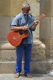 Busker på gatan i Gibraltar royaltyfria foton