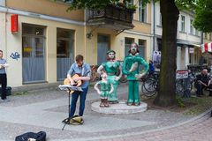 Busker in Potsdam Stock Image
